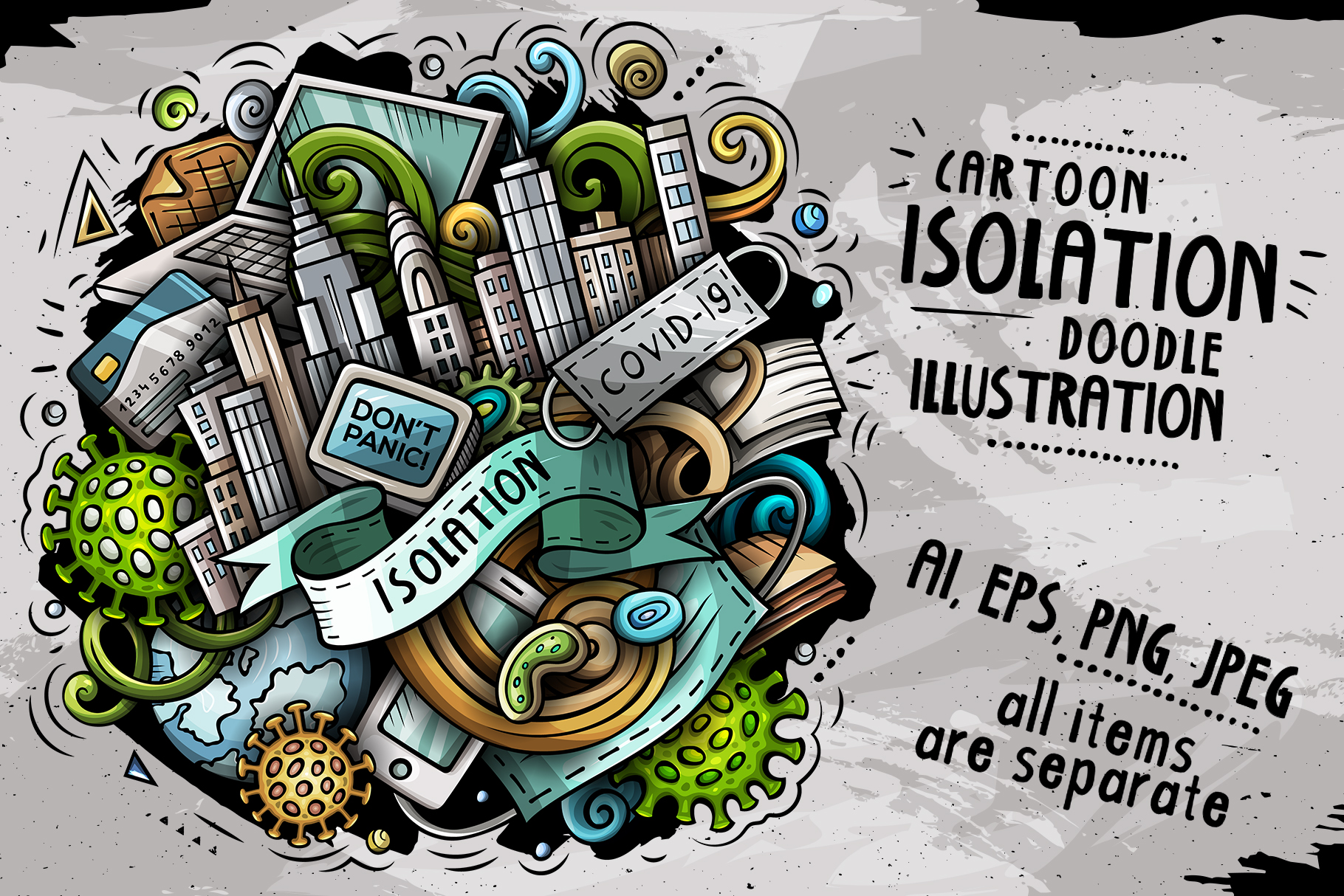Download Free Isolation Cartoon Vector Illustration Graphic By Balabolka SVG Cut Files