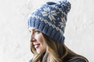 Knit Frozen Snowflakes Beanie Pattern Graphic Knitting Patterns By Knit and Crochet Ever After