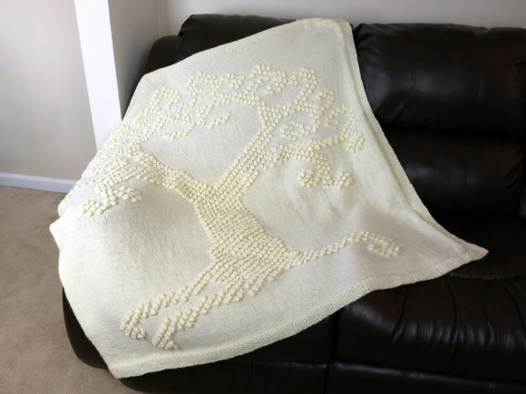 Knit Tree of Love Blanket Pattern Graphic Knitting Patterns By Knit and Crochet Ever After