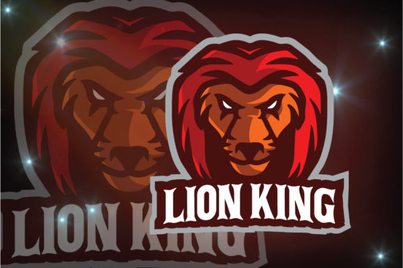 Download Free Lion King Logo Esport Graphic By Remarena Creative Fabrica for Cricut Explore, Silhouette and other cutting machines.