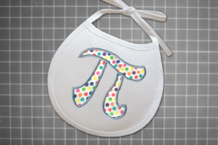 Math Pi Symbol Applique Back to School Embroidery Design By DesignedByGeeks