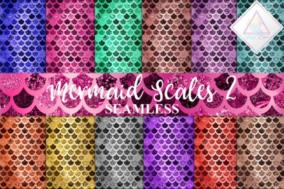 Print on Demand: Mermaid Scales Digital Paper Graphic Textures By fantasycliparts