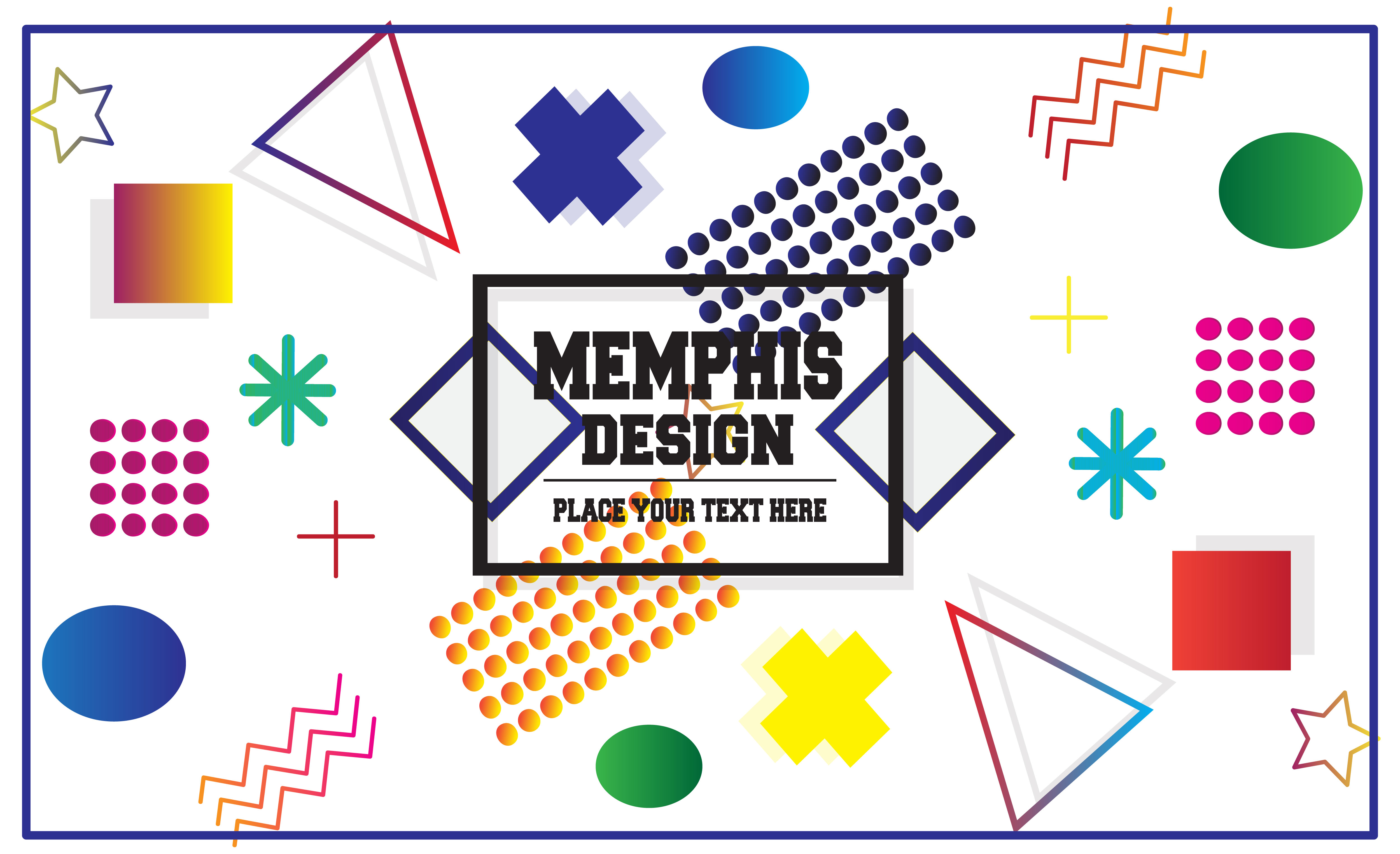 Download Free Modern Memphis Graphic By Mahesa Design Creative Fabrica for Cricut Explore, Silhouette and other cutting machines.