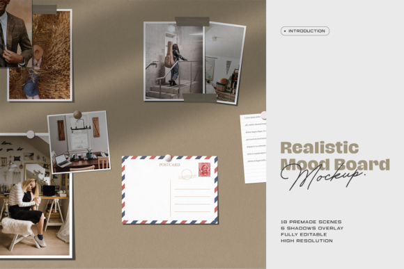 Print on Demand: Moodboard Mockup Graphic Product Mockups By ovoz.graphics