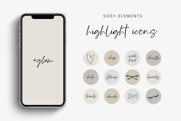 Neutral Tones IG Story Highlight Icons Graphic Icons By StylishDesign
