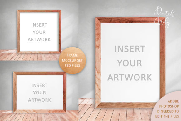 Print on Demand: Art Frame Mockup Set #4 Graphic Product Mockups By daphnepopuliers