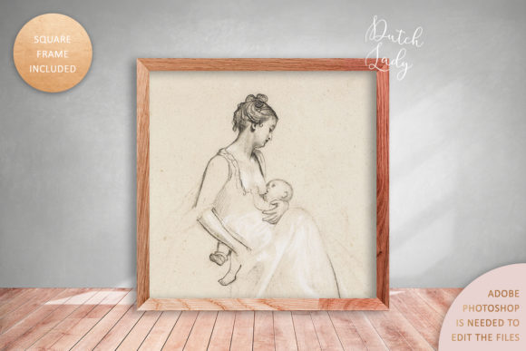 Print on Demand: Art Frame Mockup Set #4 Graphic Product Mockups By daphnepopuliers - Image 4