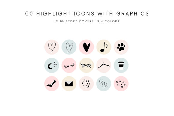 Download Free Pastel Instagram Story Highlight Icons Graphic By Stylishdesign Creative Fabrica for Cricut Explore, Silhouette and other cutting machines.