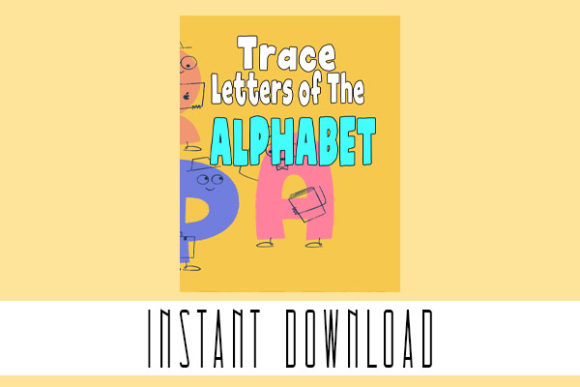 Preschool Trace Alphabet Letters Pages Graphic Teaching Materials By Rabbit Art