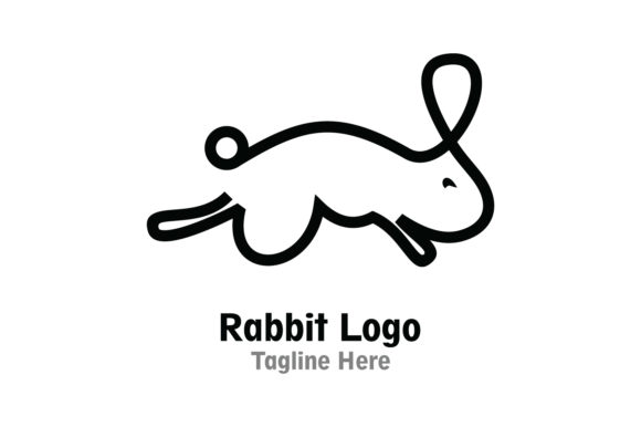 Download Free Rabbit Company Logo Vector Graphic By Yuhana Purwanti Creative for Cricut Explore, Silhouette and other cutting machines.