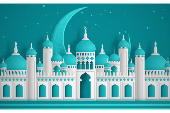 Download Free Ramadan Kareem Greeting Background Graphic By Inkwellapp for Cricut Explore, Silhouette and other cutting machines.