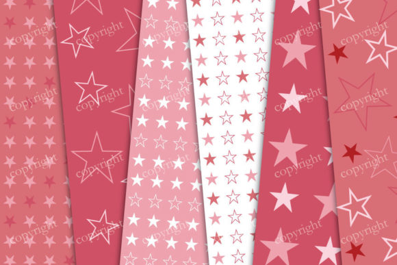 Download Free Red Stars Digital Paper Pack Graphic By Sweetdigidesign for Cricut Explore, Silhouette and other cutting machines.