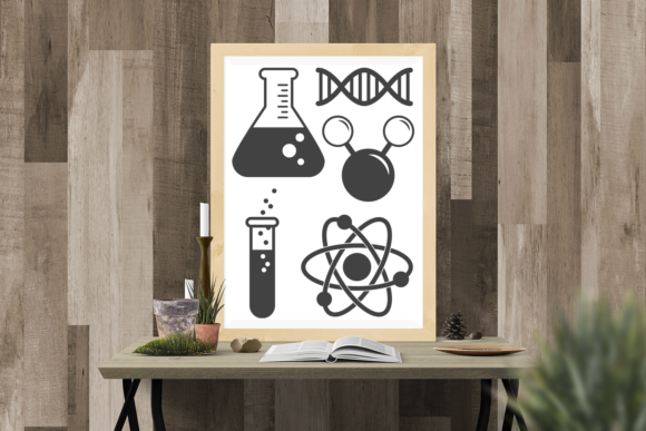 Science Symbols Set Graphic Crafts By DesignedByGeeks