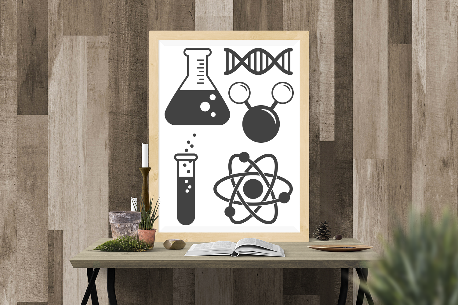 Download Free Science Symbols Set Graphic By Designedbygeeks Creative Fabrica for Cricut Explore, Silhouette and other cutting machines.