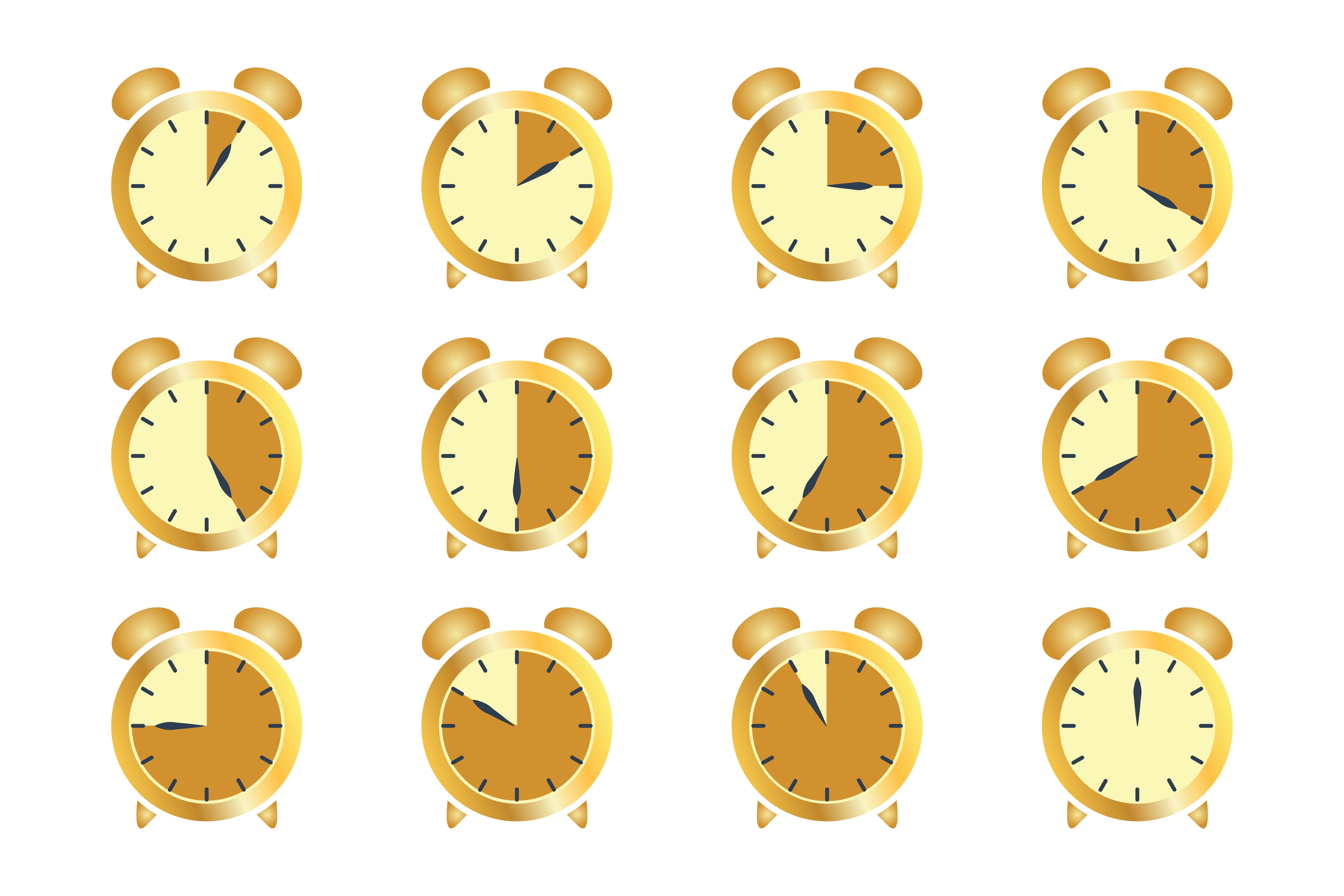 Download Free Set Timer Clock Stopwatch Graphic By Frog Ground Creative for Cricut Explore, Silhouette and other cutting machines.