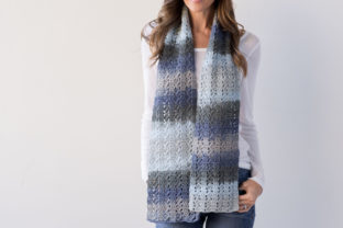 Slanting Squares Scarf Crochet Pattern Graphic Crochet Patterns By Knit and Crochet Ever After