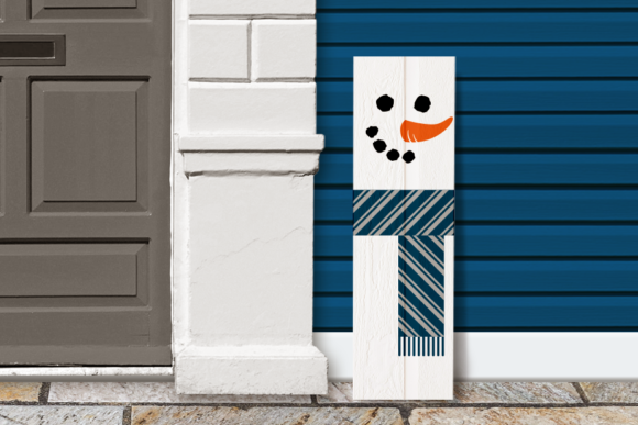 Snowman Christmas Porch Sign Graphic Crafts By DesignedByGeeks