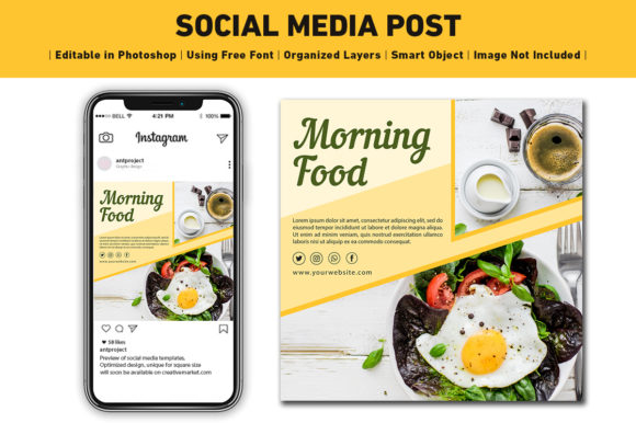 Social Media Post Food Graphic Web Templates By ant project template