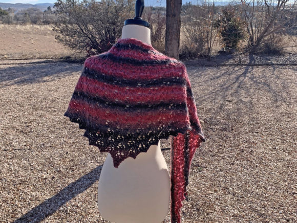 Solitude Shawl Knit Pattern Graphic Knitting Patterns By Knit and Crochet Ever After - Image 2