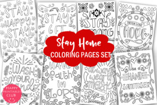 Stay Home Coloring Pages Graphic Coloring Pages & Books Kids By Happy Printables Club 1
