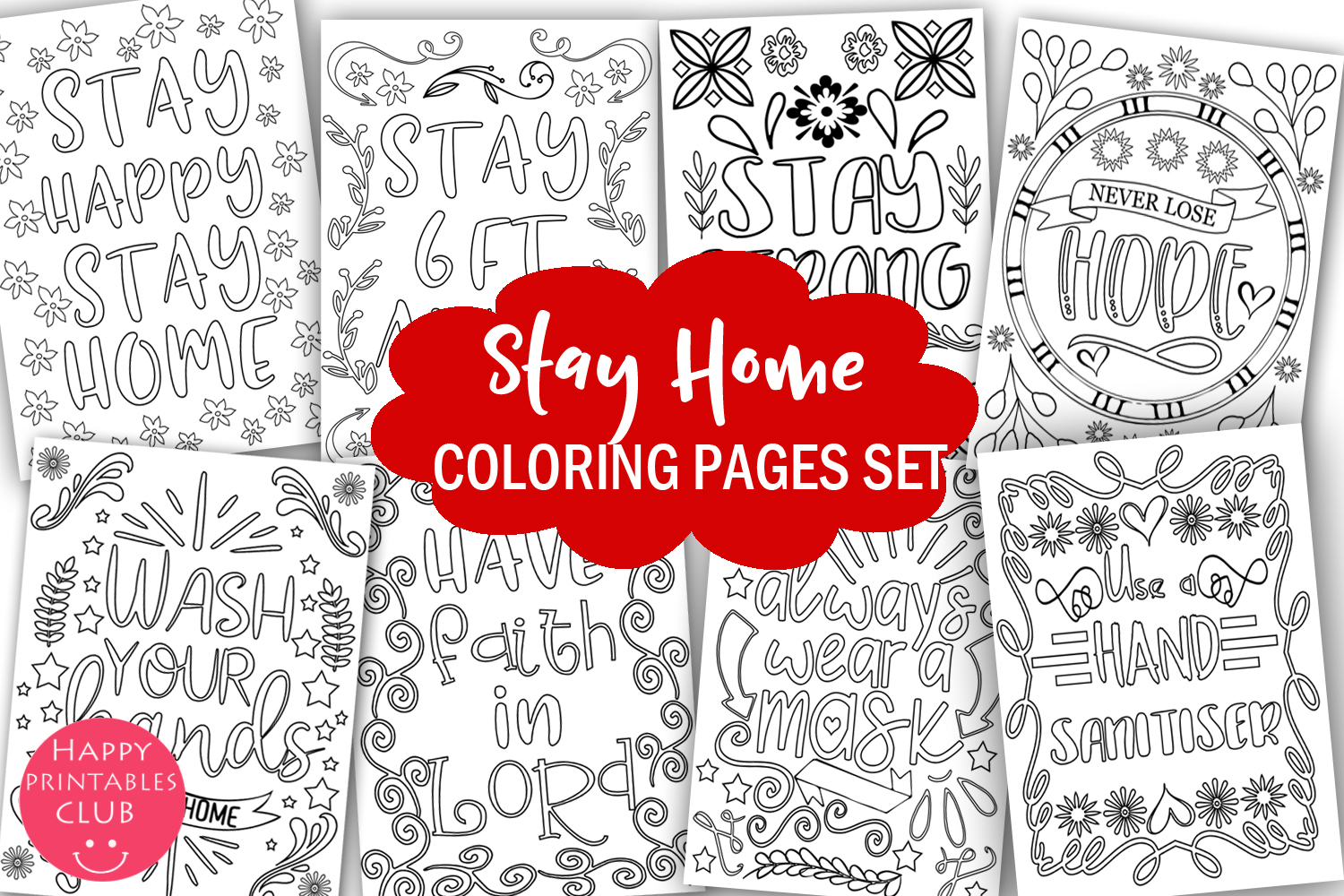 Free Printable Coloring Page Bookmarks | Dawn Nicole | 1000x1500