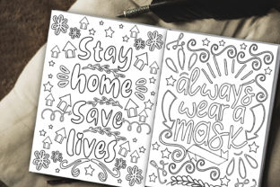 Stay Home Coloring Pages Graphic Coloring Pages & Books Kids By Happy Printables Club 2