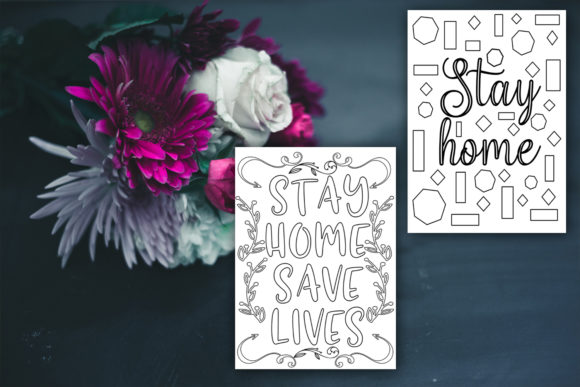 Print on Demand: Stay Home Coloring Pages Graphic Coloring Pages & Books Kids By Happy Printables Club - Image 5