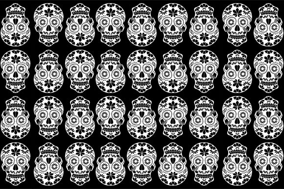 Sugar Skulls Background Graphic Backgrounds By shawlin