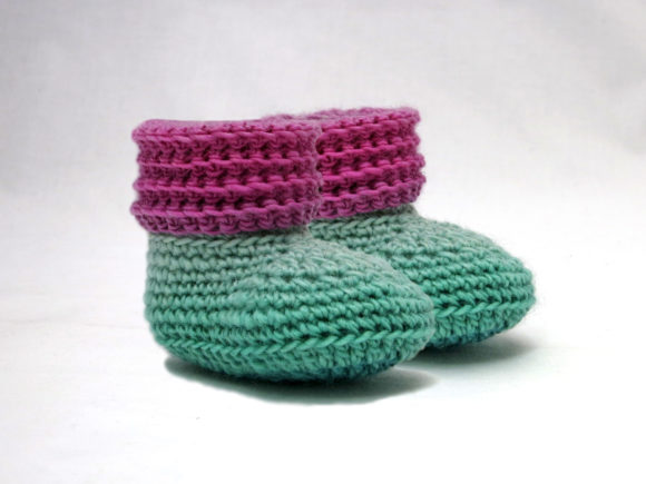 Sweet Baby Booties and Beanie Gift Set Graphic Crochet Patterns By Knit and Crochet Ever After - Image 2