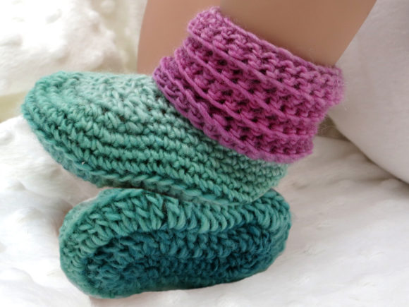 Sweet Baby Booties and Beanie Gift Set Graphic Crochet Patterns By Knit and Crochet Ever After - Image 5