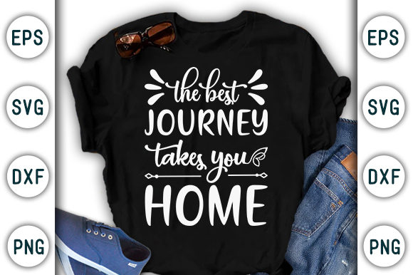 Print on Demand: The Best Journey Takes You, Stay Home Graphic Print Templates By CraftStudio - Image 1