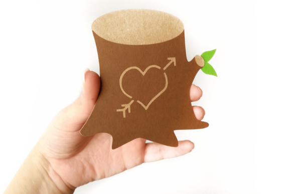 Tree Stump with Heart Graphic Crafts By DesignedByGeeks