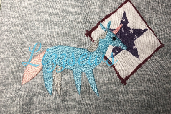 Unicorn Animals Embroidery Design By Lizzsews