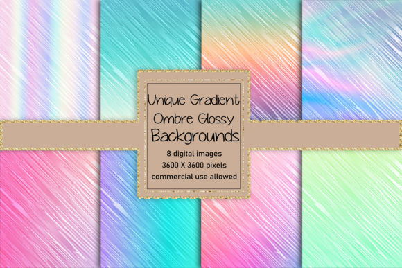 Unique Glossy Gradient Backgrounds Graphic Backgrounds By AM Digital Designs