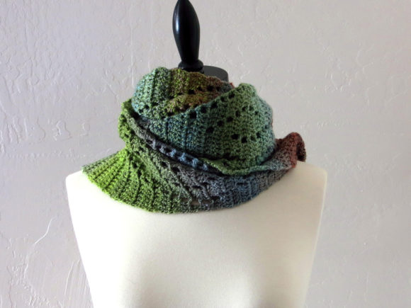 Wave Lace Scarf Crochet Pattern Graphic Crochet Patterns By Knit and Crochet Ever After