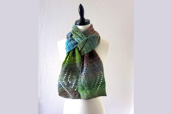 Download Free Wave Lace Scarf Crochet Pattern Graphic By Knit And Crochet Ever for Cricut Explore, Silhouette and other cutting machines.