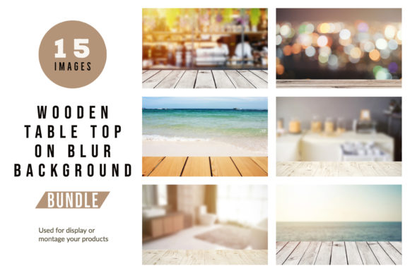 Download Free Wooden Table Top On Blur Background Graphic By Nuchylee for Cricut Explore, Silhouette and other cutting machines.
