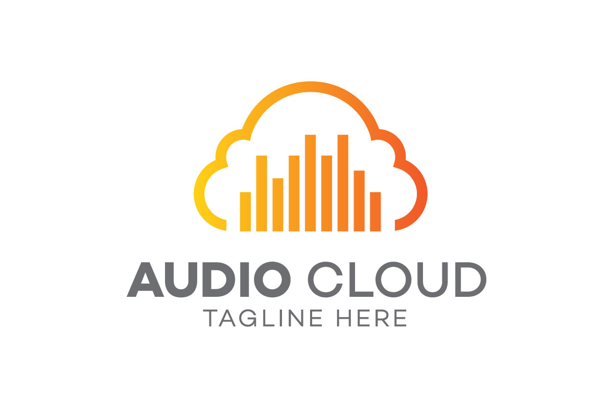 Download Free Audio Cloud Logo Design Template Graphic By Syaefulans for Cricut Explore, Silhouette and other cutting machines.