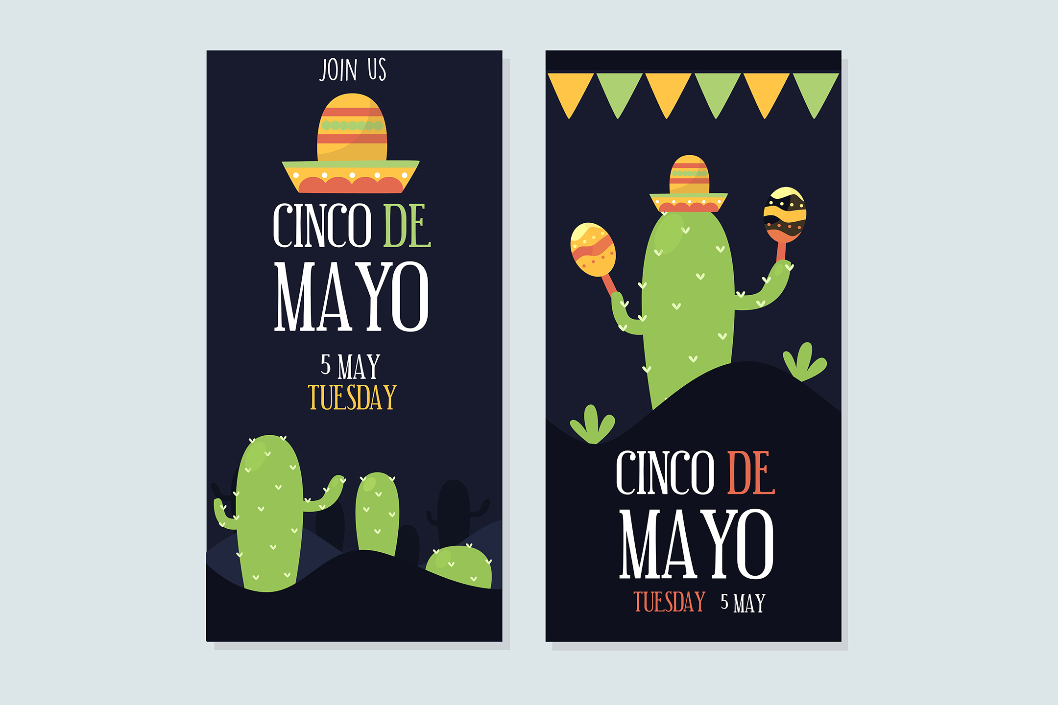 Cinco De Mayo Set Banners Mexican Graphic By Aprlmp276