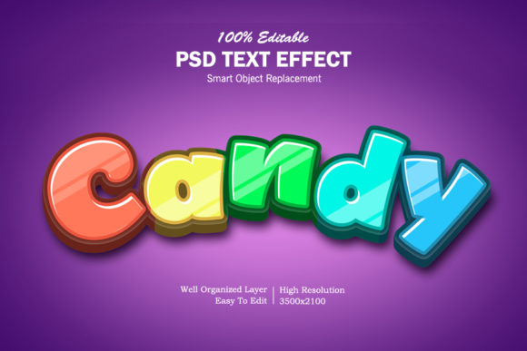 Download Free 3d Candy Text Effect Graphic By Goldani412 Creative Fabrica for Cricut Explore, Silhouette and other cutting machines.