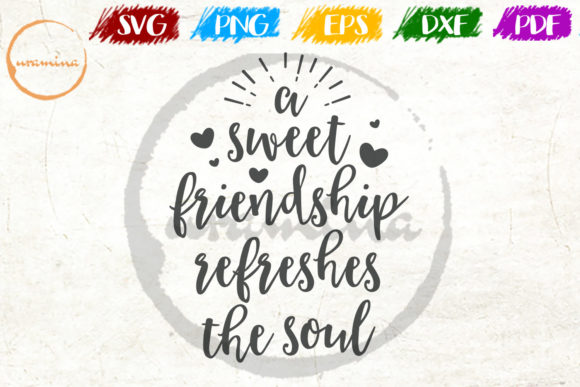 Download Free A Sweet Friendship Refreshes The Soul Graphic By Uramina for Cricut Explore, Silhouette and other cutting machines.