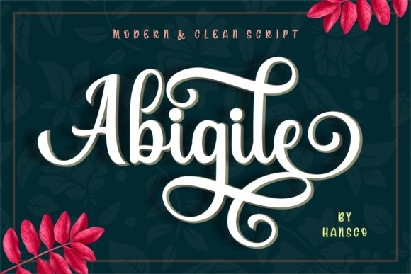 Print on Demand: Abigile Script & Handwritten Font By HansCo