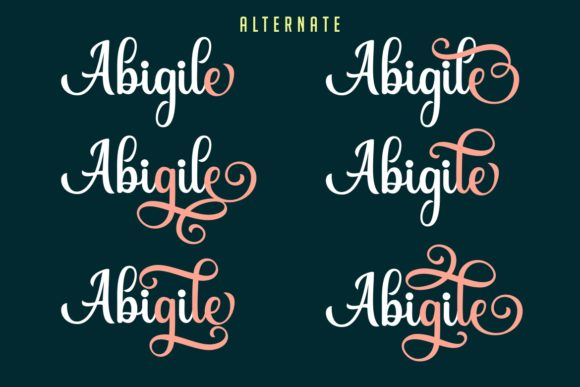 Print on Demand: Abigile Script & Handwritten Font By HansCo - Image 7