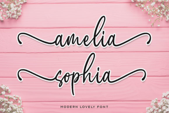 Download Free Amelia Sophia Font By Letterrendra Creative Fabrica for Cricut Explore, Silhouette and other cutting machines.