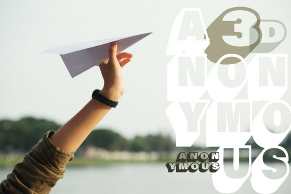 Print on Demand: Anonymous Display Font By VTKS Design