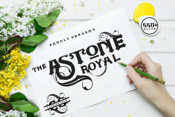Download Free Astone Royal Font By Artype07 Creative Fabrica for Cricut Explore, Silhouette and other cutting machines.