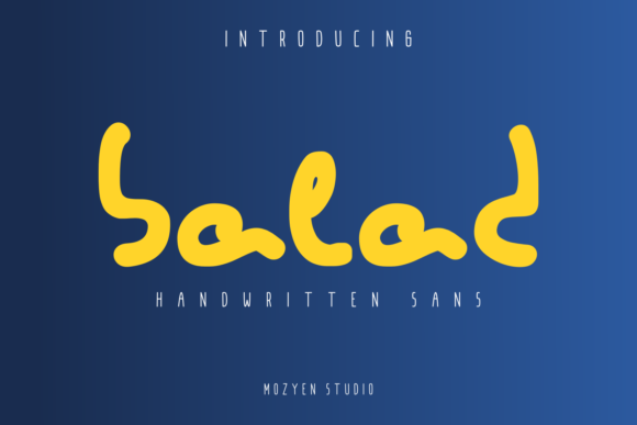Print on Demand: Balad Script & Handwritten Font By mozyenstudio
