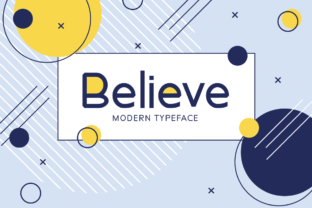 Print on Demand: Believe Display Font By Seemly Fonts