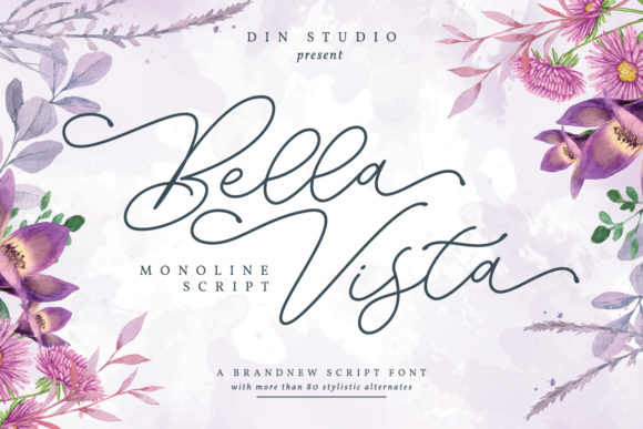 Print on Demand: Bella Vista Script & Handwritten Font By Din Studio