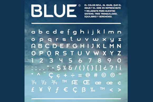 Print on Demand: Blue Display Font By Daniel Basualdo